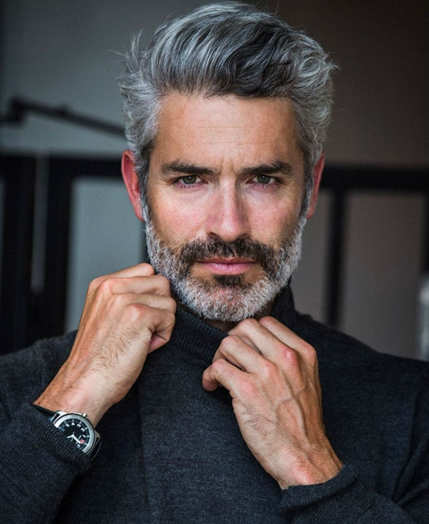Show off grey hair | 9 Unexpected Things Men Do That Women Actually Find Attractive | ZestRadar