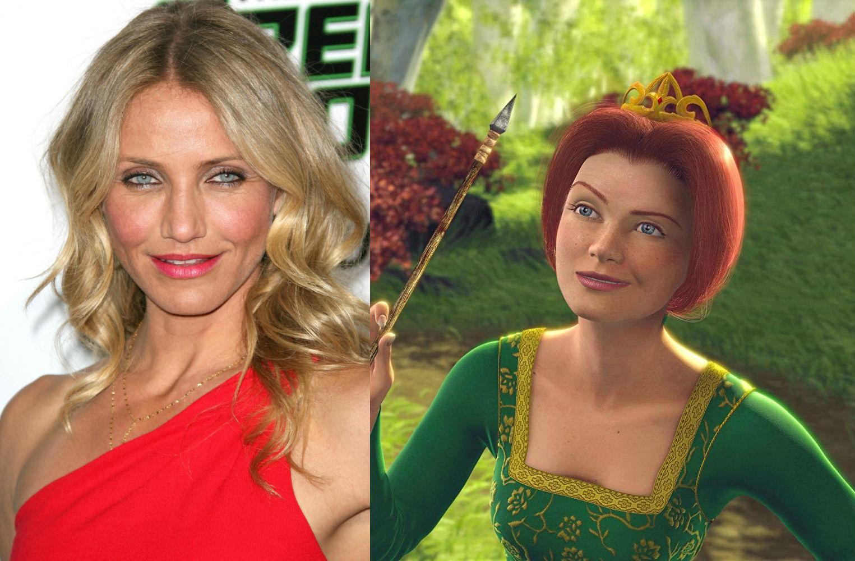 Cameron Diaz – Fiona in Shrek  | 21 Celebrities Who Voiced Your Favorite Cartoon Characters | Brain Berries
