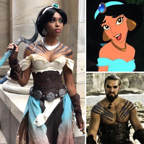 Jasmine x Khal Drogo | 15 Astounding Cosplay Transformations of CutiePieSensei | Brain Berries