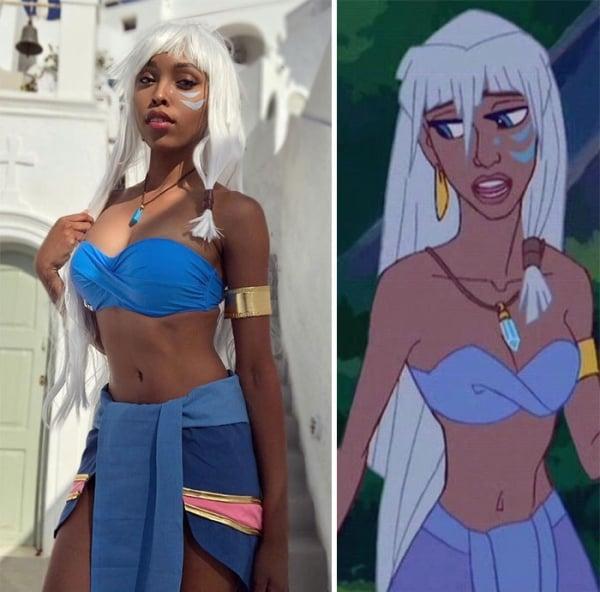 Princess Kida from Legend of Atlantis | 15 Astounding Cosplay Transformations of CutiePieSensei | Brain Berries
