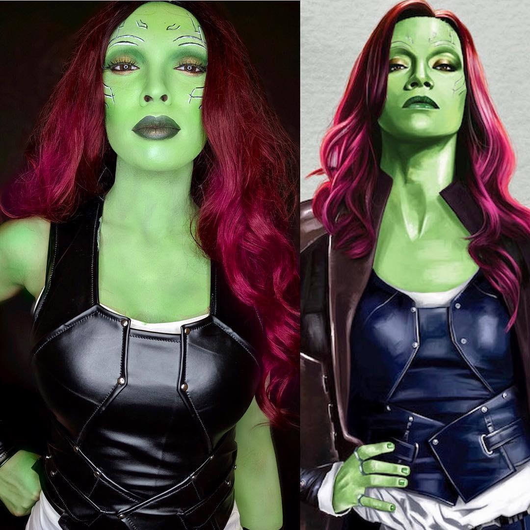 Gamora | 15 Astounding Cosplay Transformations of CutiePieSensei | Brain Berries