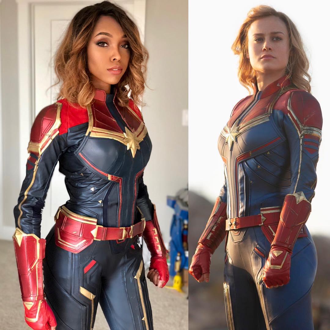 Captain Marvel | 15 Astounding Cosplay Transformations of CutiePieSensei | Brain Berries
