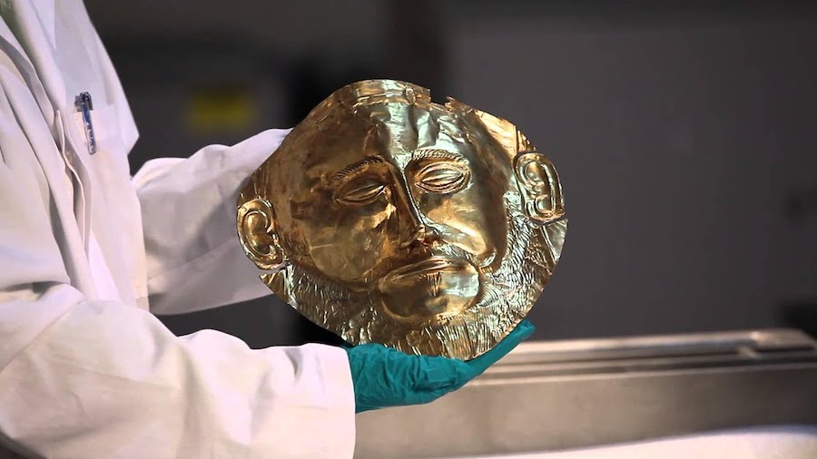 Mask of Agamemnon, King of Mycenae |  Top 10 Ancient Greek Masterpieces | ZestRadar