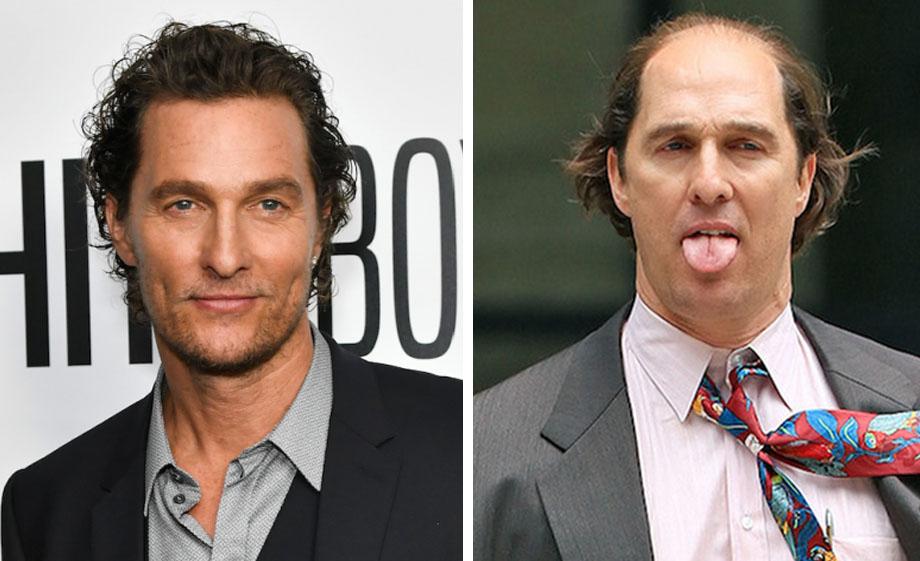 Matthew McConaughey – Kenny Wells | 10 'Ugly' Movie Characters Who Look Stunning in Real Life | ZestRadar