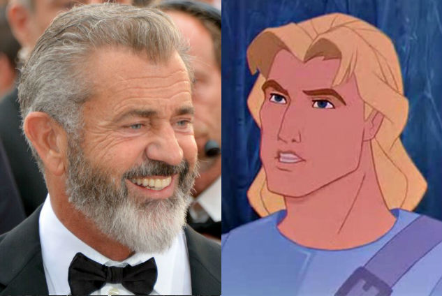 Mel Gibson – John Smith in Pocahontas  | 21 Celebrities Who Voiced Your Favorite Cartoon Characters | Brain Berries