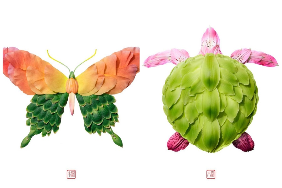 Artist Creates Images out of Flower Petals #10 | ZestRadar