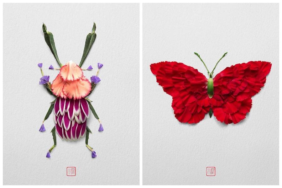 Artist Creates Images out of Flower Petals #3 | ZestRadar