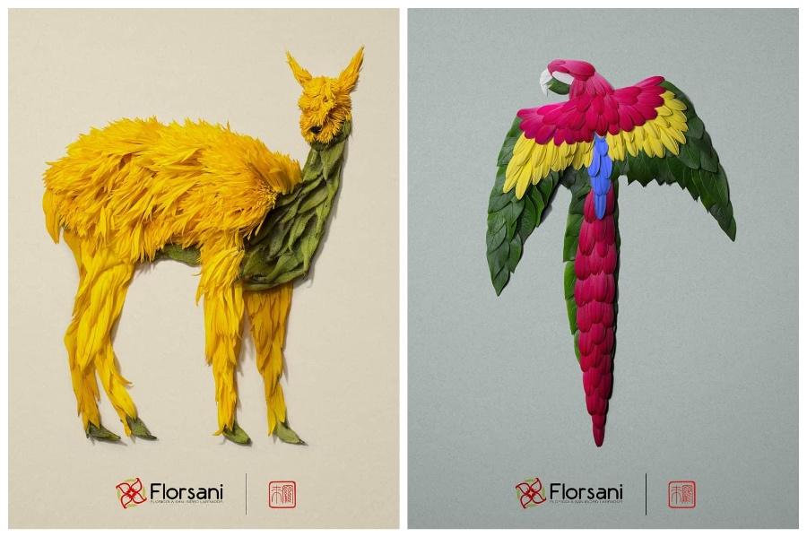 Artist Creates Images out of Flower Petals #4 | ZestRadar
