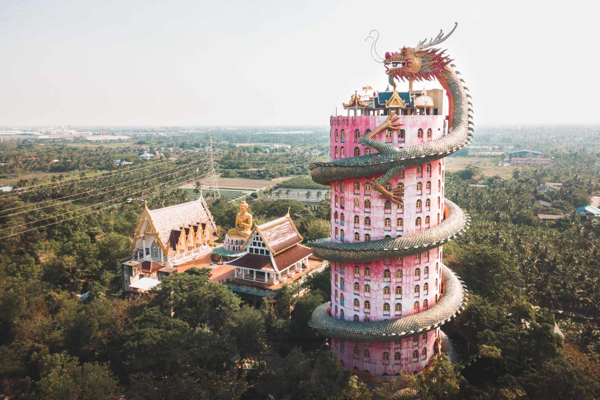 The Dragon Building in Wat Samphran | 7 Thailand's Most Exquisite Architectural Wonders | Brain Berries