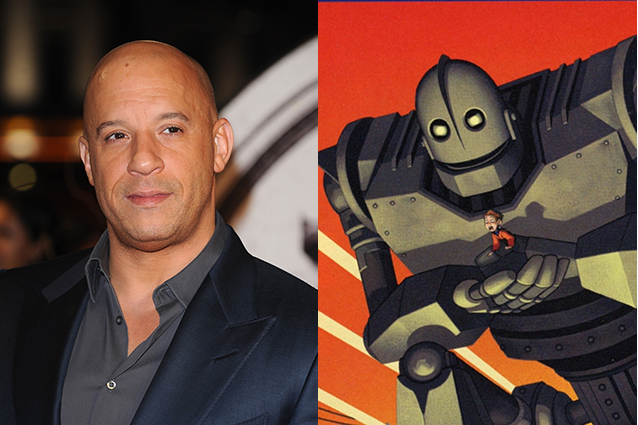 Vin Diesel – The Iron Giant  | 21 Celebrities Who Voiced Your Favorite Cartoon Characters | Brain Berries