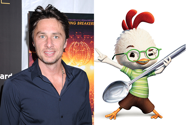 Zach Braff – Chicken Little  | 21 Celebrities Who Voiced Your Favorite Cartoon Characters | Brain Berries