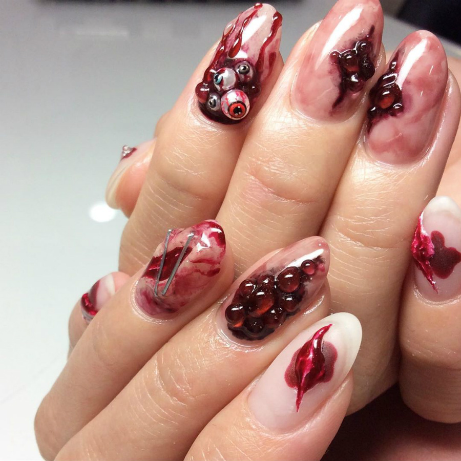 """""""Nail"""" The Halloween Party With These Devilish And Spooky Nail Art Designs #6 