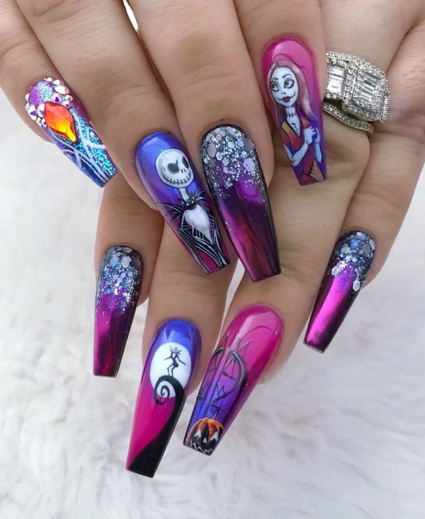 """""""Nail"""" The Halloween Party With These Devilish And Spooky Nail Art Designs #7 