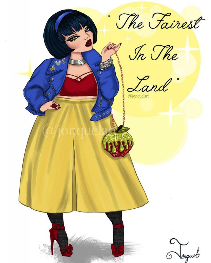 SnowWhite | American Artist Reimagines Disney Princesses In Plus Sizes | ZestRadar