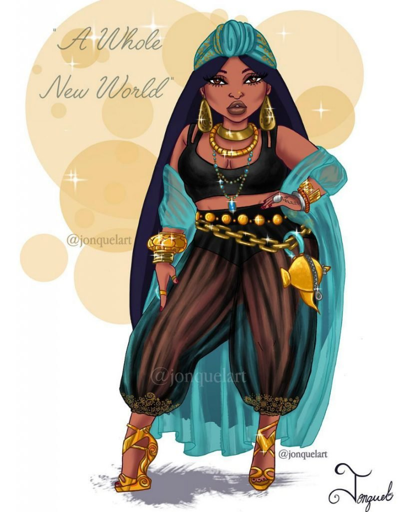 Jasmine | American Artist Reimagines Disney Princesses In Plus Sizes | ZestRadar