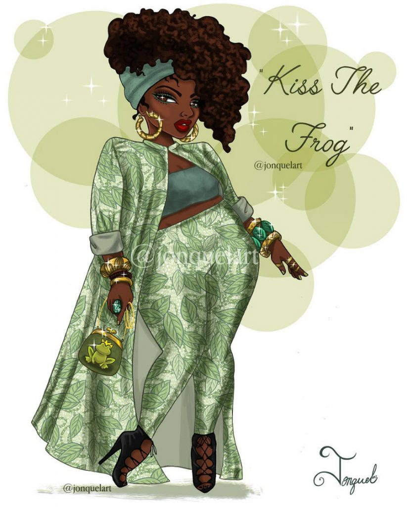 Tiana | American Artist Reimagines Disney Princesses In Plus Sizes | ZestRadar