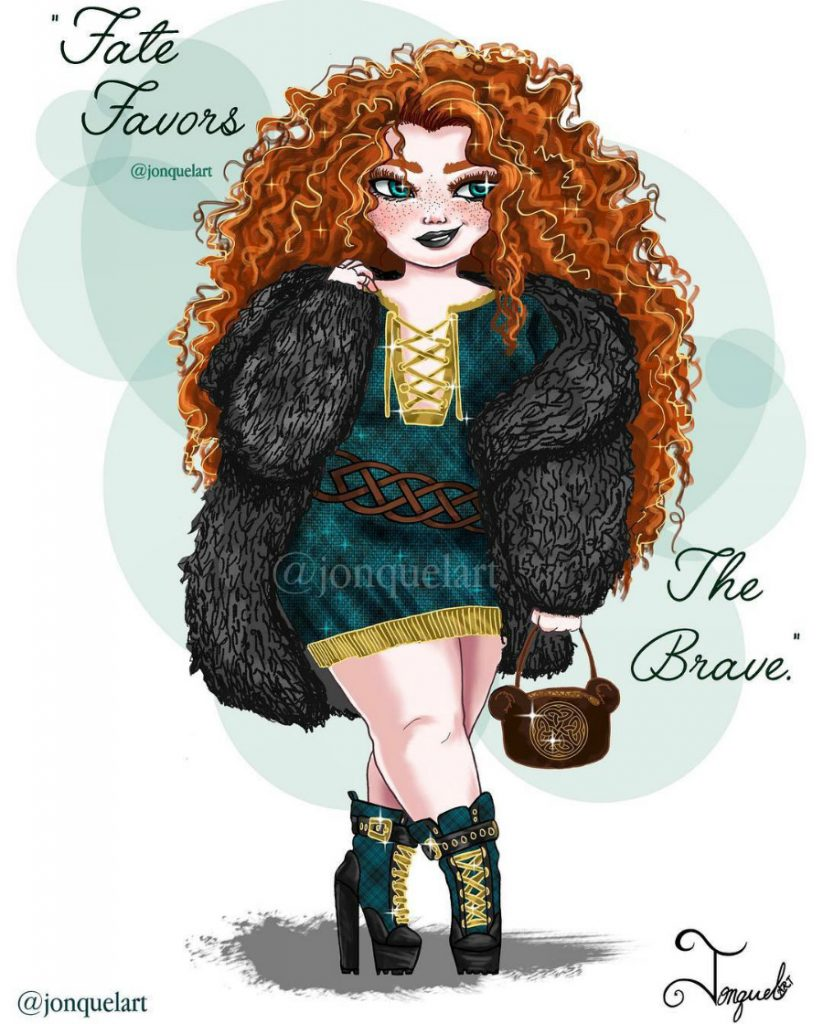Merida | American Artist Reimagines Disney Princesses In Plus Sizes | ZestRadar