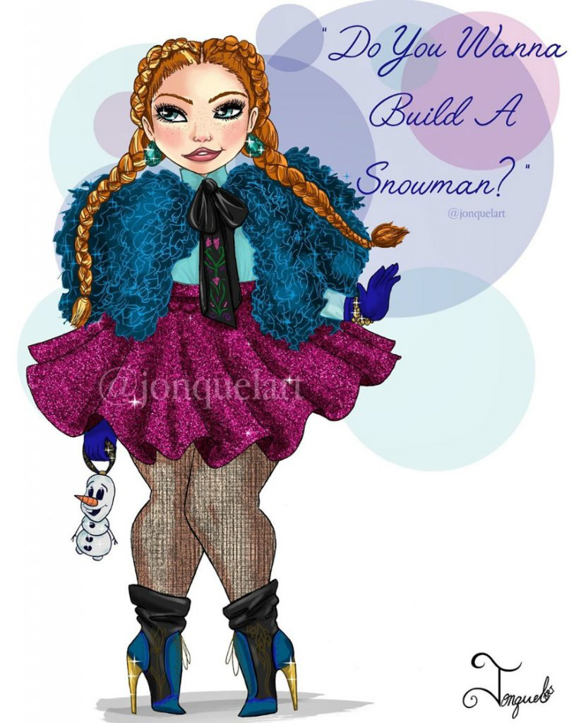 Anna | American Artist Reimagines Disney Princesses In Plus Sizes | ZestRadar