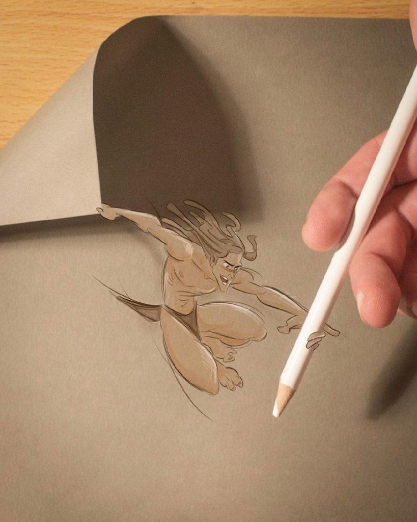 Реалистичные иллюстрации героев Диснея, которые оживают на бумаге #7 | ZestRadar