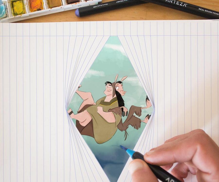Реалистичные иллюстрации героев Диснея, которые оживают на бумаге #9 | ZestRadar