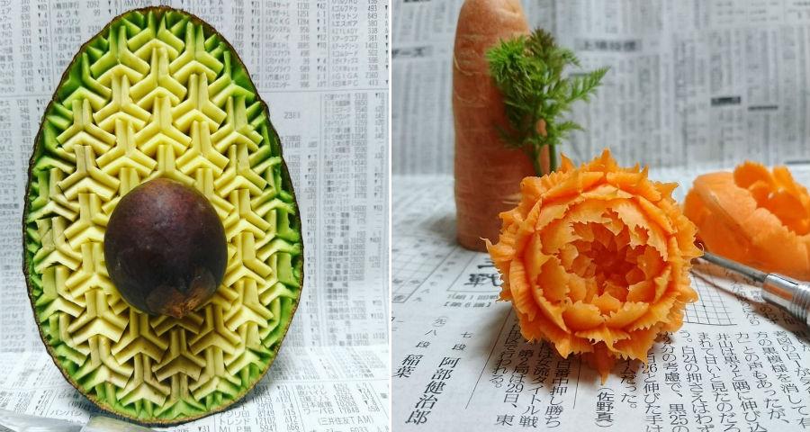 Удивительные картины на фруктах и овощах от японского художника | Brain Berries