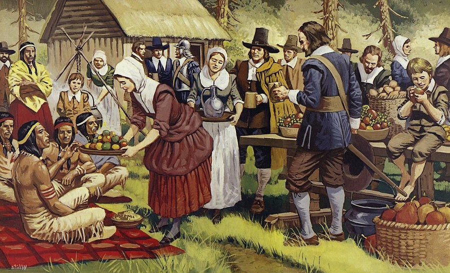 First Thanksgiving Celebration | 10 Thanksgiving Facts That You Will Gobble Up | Brain Berries