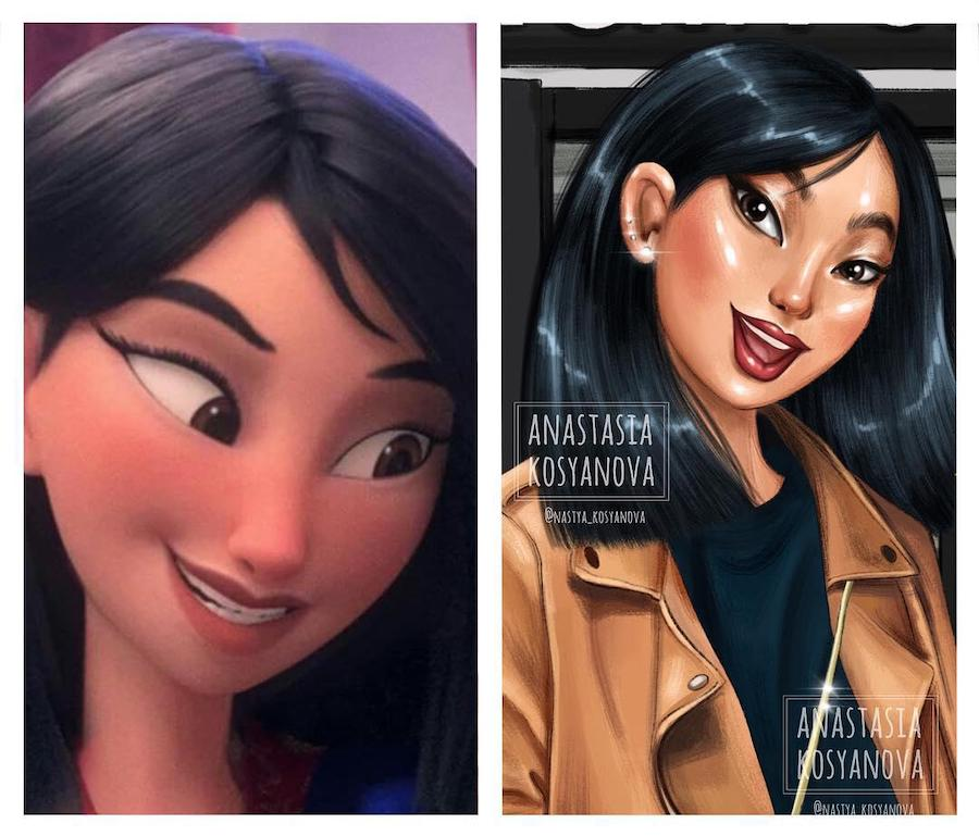 Mulan | Fashion Illustrator Makes Cartoon Characters Stylish and Trendy