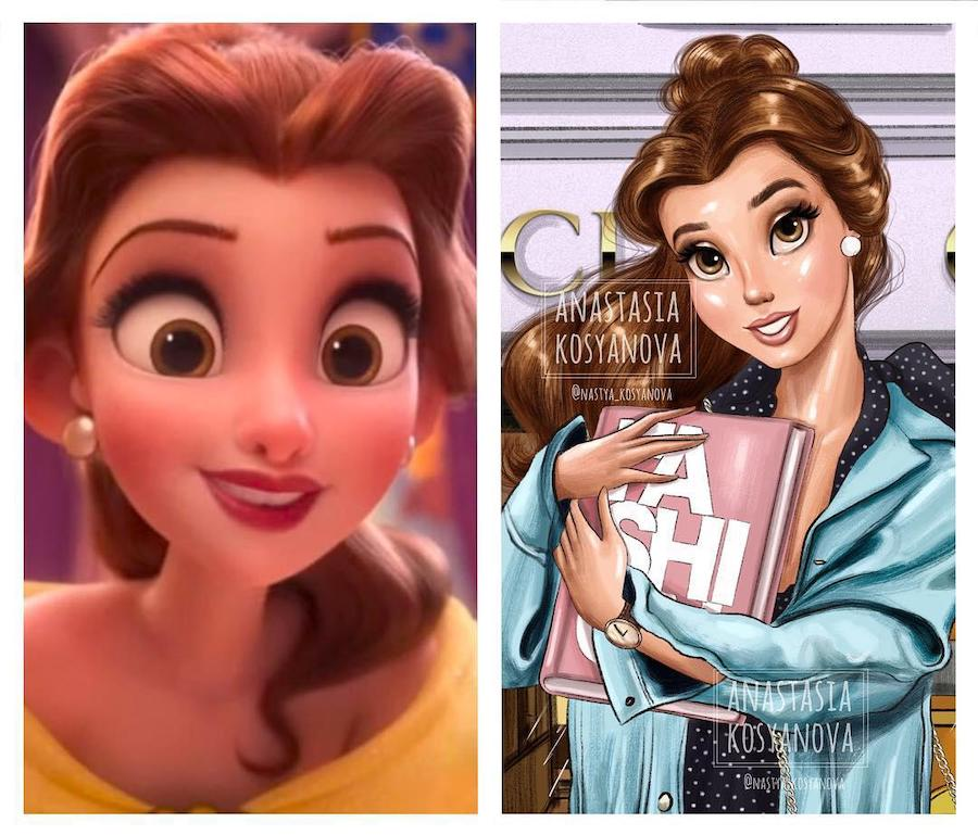 Belle | Fashion Illustrator Makes Cartoon Characters Stylish and Trendy