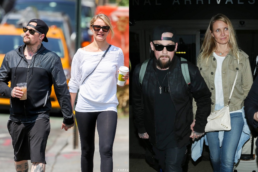 Cameron Diaz and Benji Madden | 10 Celebrity Couples With The Biggest Height Difference | BrainBerries