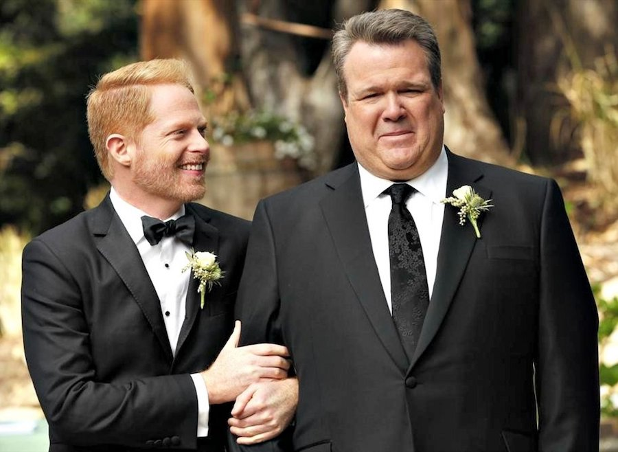 Eric Stonestreet and Jesse Tyler Ferguson (Modern Family) | 7 Actors Who Refused to Kiss on Camera | ZestRadar