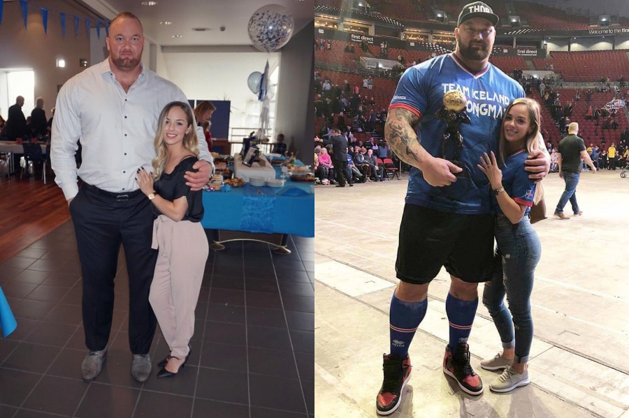 Hafþór Björnsson and Kelsey Henson | 10 Celebrity Couples With The Biggest Height Difference | BrainBerries