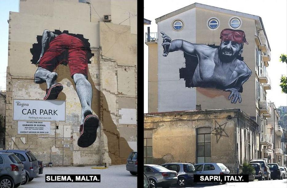 Malta-Sapri | Street art ataliana: I murales che non puoi proprio perderti! | Brain Berries