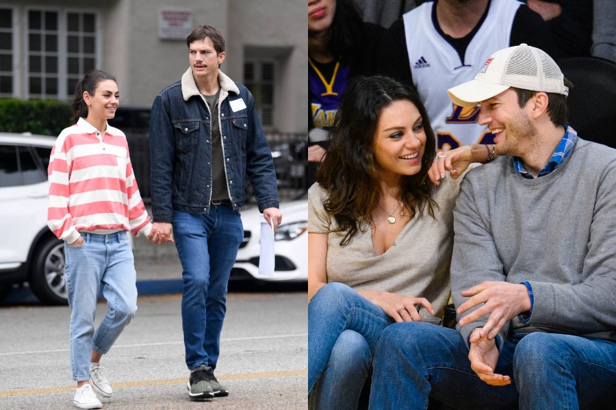 Mila Kunis and Ashton Kutcher | 10 Celebrity Couples With The Biggest Height Difference | BrainBerries