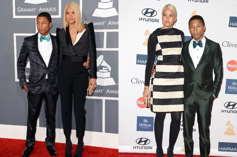 Pharrell Williams and Helen Lasichanh | 10 Celebrity Couples With The Biggest Height Difference | BrainBerries