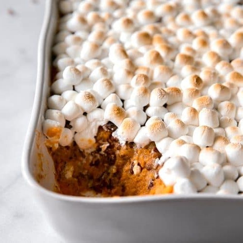 Sweet Potato Casserole With Marshmallow | 8 Vegetarian Dish Ideas for the Thanksgiving Table| Her Beauty