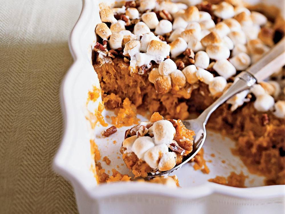 Sweet Potato Casserole with Marshmallows | Top 10 Thanksgiving Foods That Should Be On Your Table This Year | Zestradar