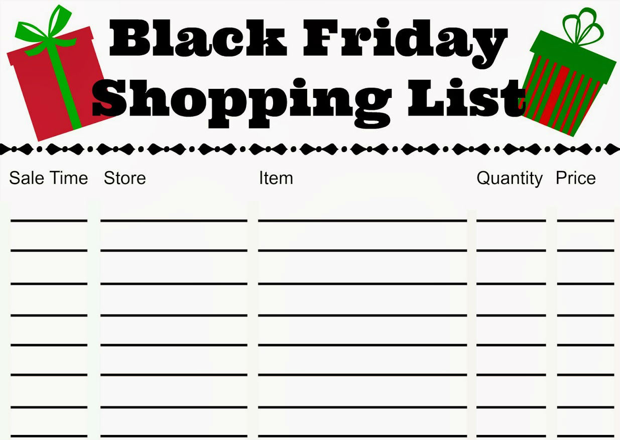 Prepare the list | 6 Simple Steps To Survive Black Friday | BrainBerries