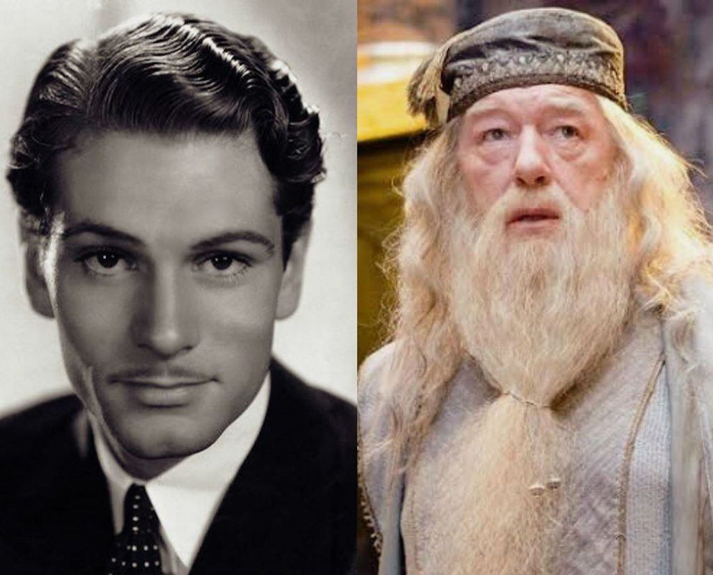 Michael Gambon/Albus Dumbledore | The Older Cast Of Harry Potter In Their Much Younger Photos | ZestRadar