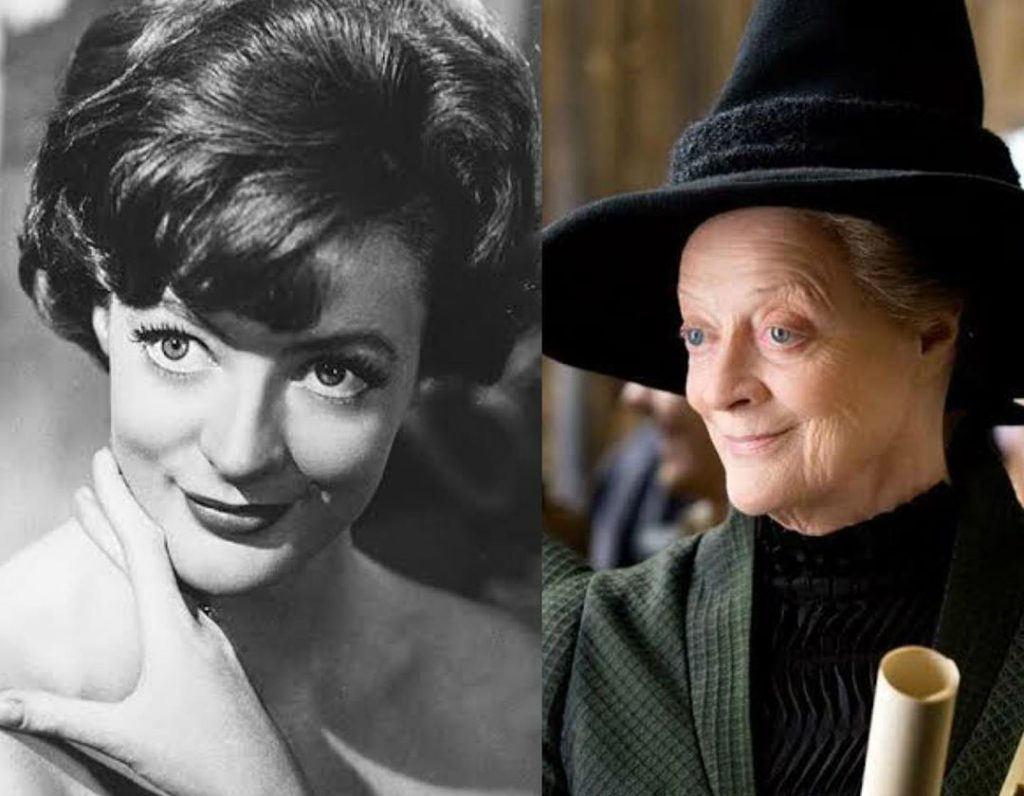 Dame Maggie Smith/Professor McGonagall | The Older Cast Of Harry Potter In Their Much Younger Photos | ZestRadar
