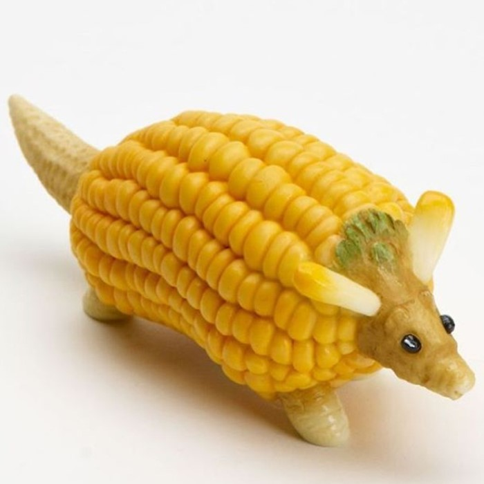 Corn | Unsettling Food Art by @TotallyGourmet | Brain Berries