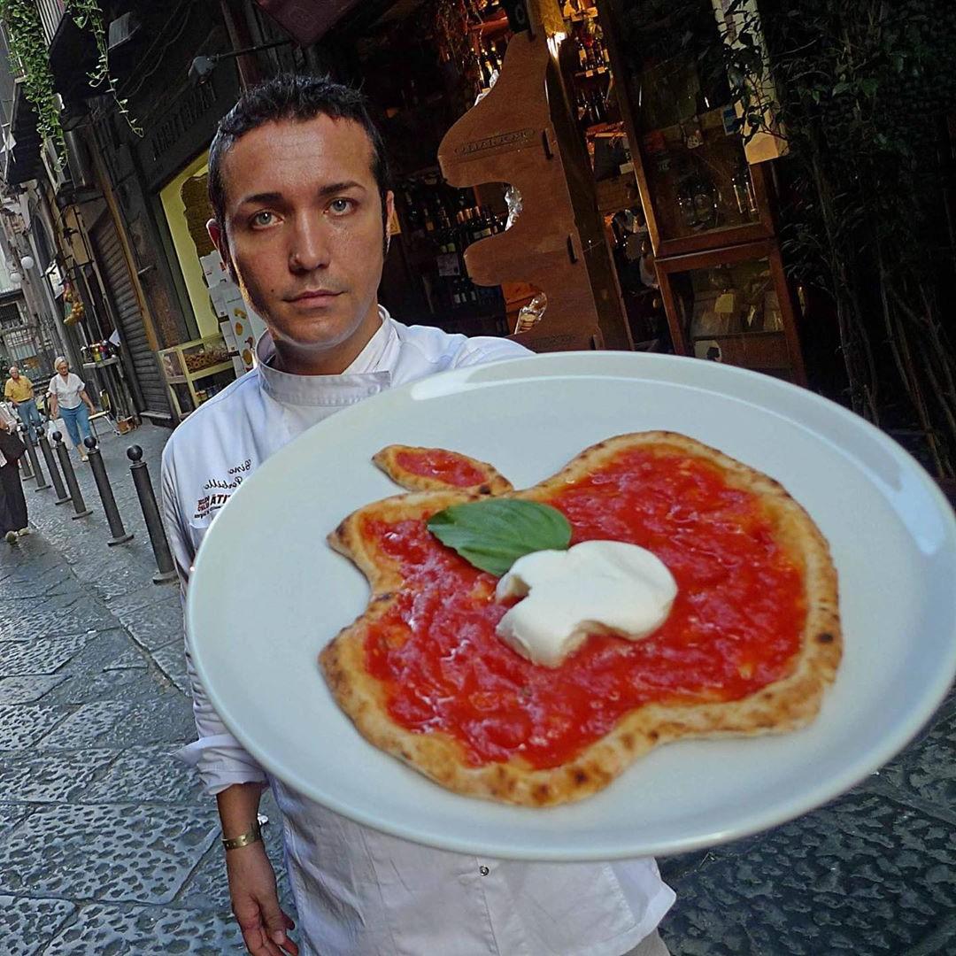 Apple pizza   Unsettling Food Art by @TotallyGourmet   Brain Berries