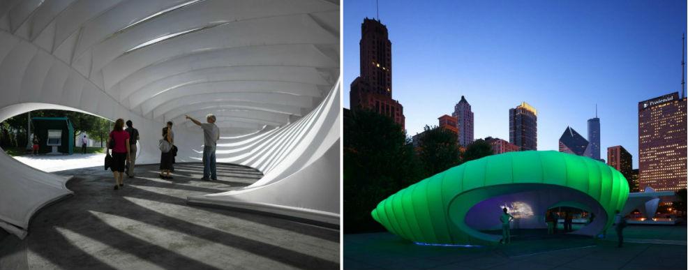 Павильоны Бернхема в Чикаго, США #2 | Космические работы самой известной женщины-архитектора Захи Хадид | Brain Berries