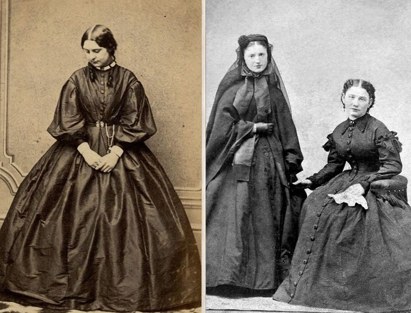 The horrendous mourning fashion | 7 Bizarre Victorian Fashion Trends We're Glad Are Gone Now | Zestradar