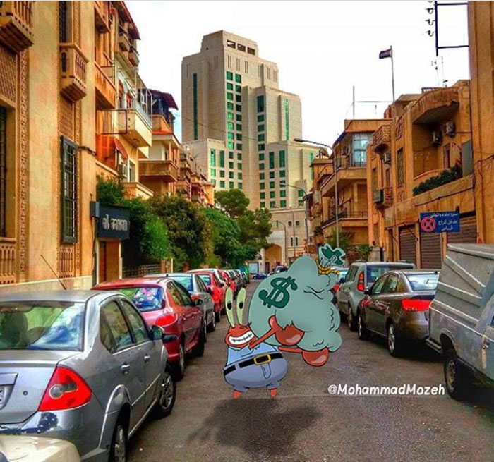 Mr. Krabs | Artist Puts Famous Cartoon Characters Into Real Life Setting, And It's Breathtaking | Zestradar