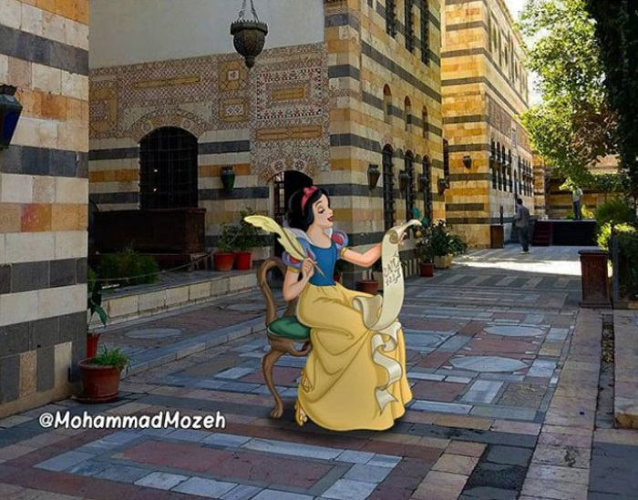 Snow White | Artist Puts Famous Cartoon Characters Into Real Life Setting, And It's Breathtaking | Zestradar