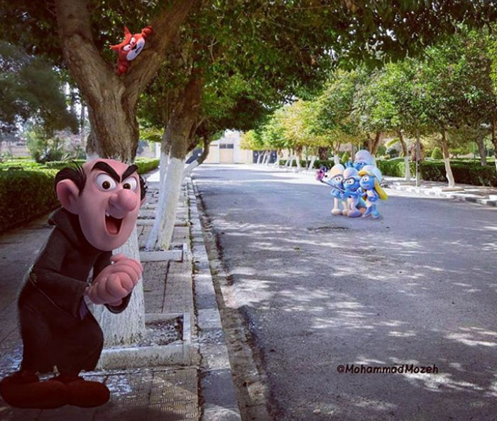 The Smurfs | Artist Puts Famous Cartoon Characters Into Real Life Setting, And It's Breathtaking | Zestradar