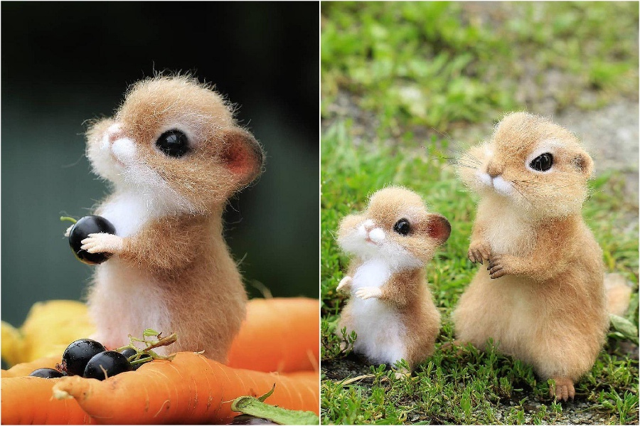 Little hamster | Super Realistic And Extra Cute Felt Animals By Russian Artist | Brain Berries