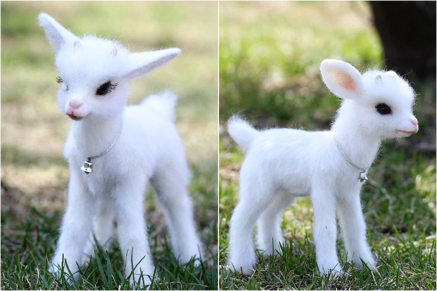 Baby goat | Super Realistic And Extra Cute Felt Animals By Russian Artist | Brain Berries