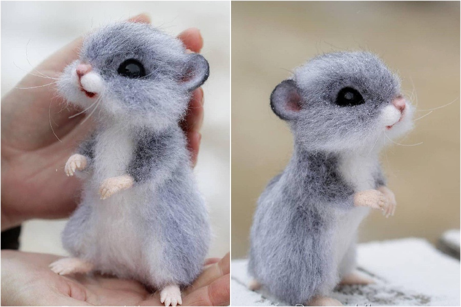 Mouse or a hamster | Super Realistic And Extra Cute Felt Animals By Russian Artist | Brain Berries