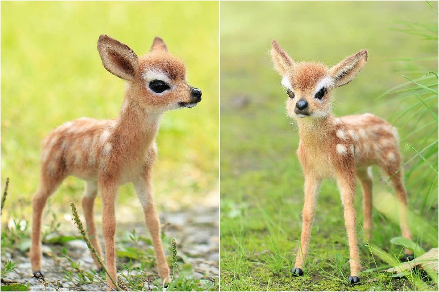 Baby fawn | Super Realistic And Extra Cute Felt Animals By Russian Artist | Brain Berries